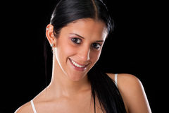 Portrait of young hispanic woman Stock Images