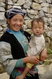 Portrait of a young Hmong woman and baby Stock Photos