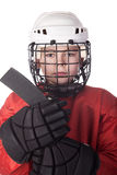 Portrait of a young ice hockey player Royalty Free Stock Photos