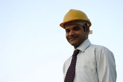 Portrait of young indian architect Stock Photography