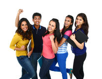 Portrait of Young Indian/Asian group Royalty Free Stock Photo