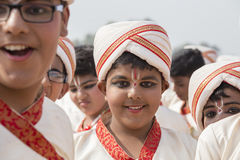 Portrait young Indian boy in New Delhi, India Stock Images