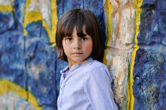 Portrait of a young kid Royalty Free Stock Photo