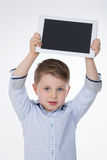 Portrait of young kid on isolated Stock Photography