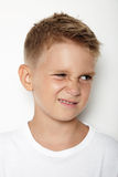 Portrait of young kid showing some emotion Stock Photography