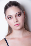 Portrait of young lady with nice skin and make up Stock Images