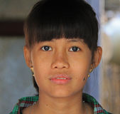 Portrait. A young lady posing for her portrait in Myanmar Feb 2015 No model release Editorial use only Stock Images