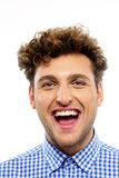 Portrait of a young laughing man Royalty Free Stock Images