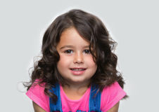 Portrait young, little girl. Portrait of happy, positive, smiling, girl Royalty Free Stock Photo