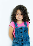 Portrait young, little girl. Portrait of a little girl who longs Royalty Free Stock Photography