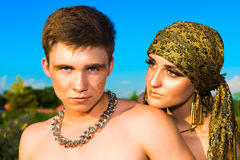 Portrait of young love couple. Royalty Free Stock Photography