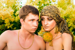 Portrait of young love couple. Royalty Free Stock Photo