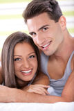 Portrait of young love couple Stock Photo