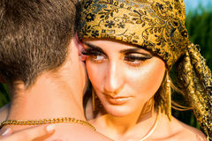 Portrait of young love couple. Stock Image