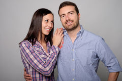 Portrait of young lovers couple Stock Photos