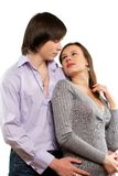 Portrait of a young loving couple Stock Images