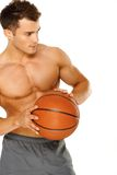 Portrait of a young male basketball player Royalty Free Stock Images