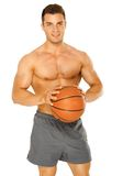 Portrait of a young male basketball player Royalty Free Stock Photography