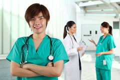 Portrait of a Young Male Doctor Stock Photo