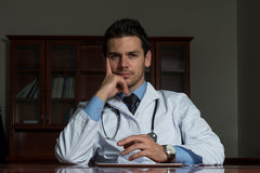Portrait Of Young Male Doctor Stock Photos