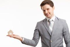 Portrait Young male Estate agent. Mortgage concept Stock Images