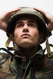 Portrait of young male soldier Stock Photography