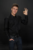 Portrait of young man. Royalty Free Stock Photography