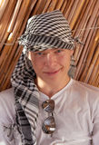 Portrait of young man. In keffiyeh Stock Images