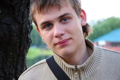 Portrait of a young man Stock Image