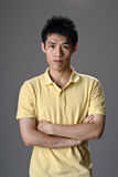 Portrait of young man of Asian Royalty Free Stock Images