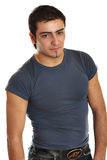 Portrait of a young man with an attitude.  stock photos