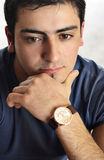 Portrait of a young man with an attitude.  stock image