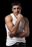 Portrait of a young man with an attitude. ÑŽ stock images