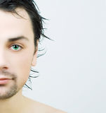 Portrait of young man after bath. Royalty Free Stock Photo