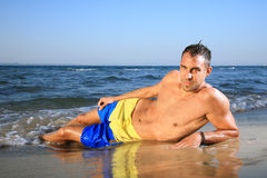 Portrait of a young man on the beach Royalty Free Stock Image