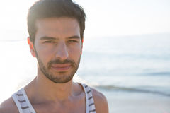 Portrait of young man at beach Stock Photography