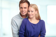 Portrait of young man bonding a beautiful woman Stock Photo