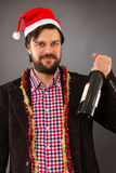Portrait of a young man celebrating Royalty Free Stock Photography