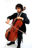 Portrait of  young man with  cello Stock Photography