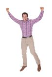 Portrait Of Young Man Cheering Stock Image