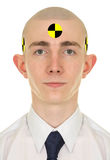 Portrait of young man - crash dummy Stock Photos