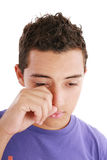 Portrait of young man crying Stock Photography