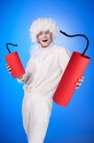 Portrait of a young man in fancy dress Stock Image
