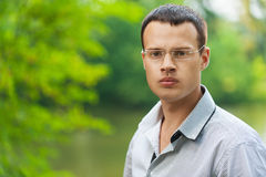 Portrait young man glasses Stock Photography