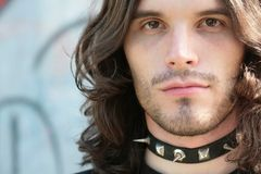 Portrait of the young man in gothic style Stock Image