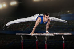 Portrait of young man gymnasts Stock Photography