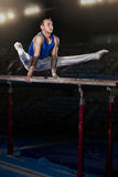 Portrait of young man gymnasts Royalty Free Stock Images