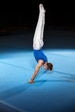 Portrait of young man gymnasts Stock Image