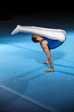 Portrait of young man gymnasts Stock Photos