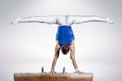 Portrait of young man gymnasts Royalty Free Stock Photography